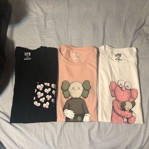 Kaws t shirts bundle of 5